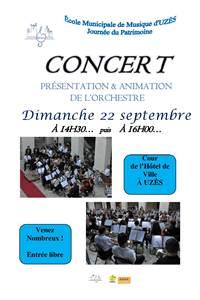 Concert de l'ochestre de l'Ecole Municipale de Musique d'Uzès