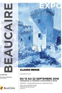 Exposition d'Aquarelles et d'encres de Claude MENGE
