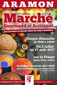 Marché gourmand et artisanal d'Aramon