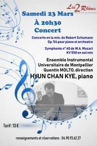 Concert avec Hyun Chan Kye et l'ensemble instrumental Universitaire de Montpellier