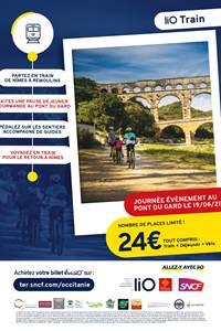 TER + vélo - Sortie vélo au Pont du Gard depuis Nîmes centre !