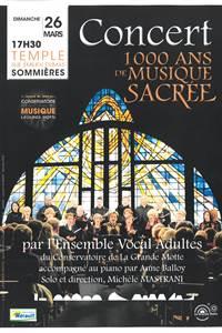 Concert 1000 ans de musique sacrée