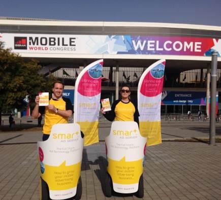 Opération Mobilboard au Mobile World Congress à Barcelone