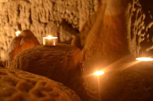 Grotte de Trabuc - la grotte s'enflamme ©