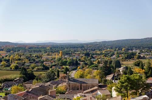 Tour de l'horloge de St-Quentin la Poterie vue panoramique pays d'Uzès © Crédit photos H Brahic