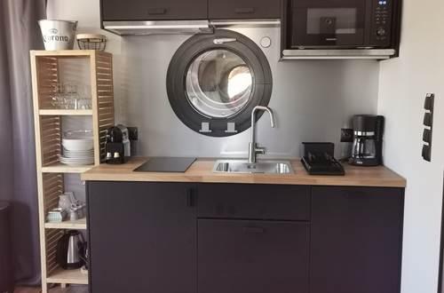 coin cuisine tout équipée avec Nespresso ©