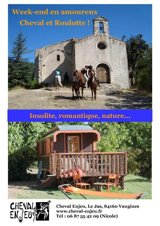 cheval et roulotte